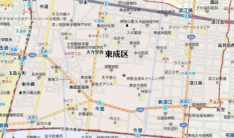 大阪市東成区のホテル